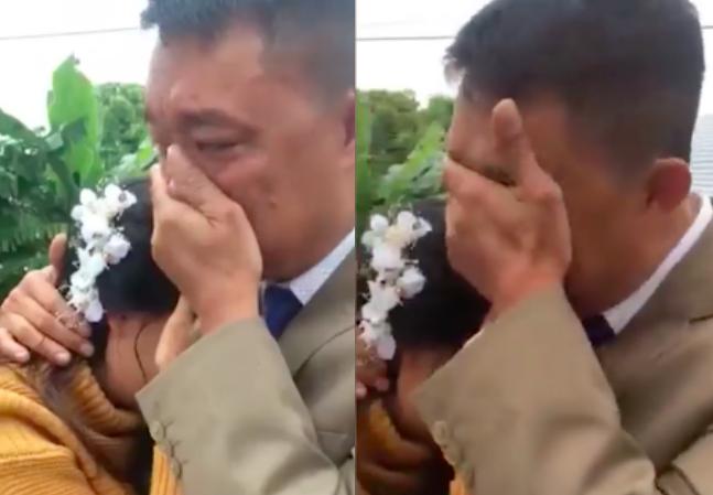Bố khóc nức nở tiễn con về nhà chồng gây bão mạng: