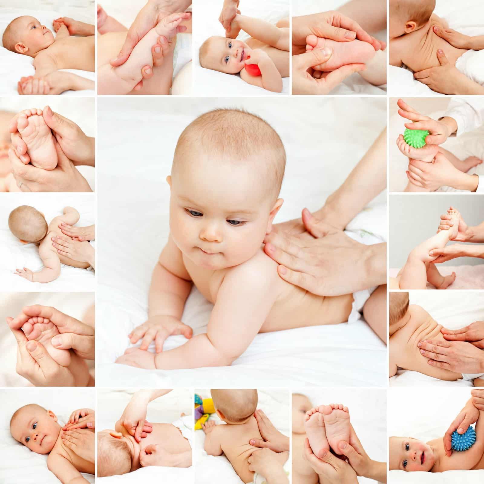 7 vị trí huyệt đạo cần mát xa cho bé không những giảm chướng bụng,