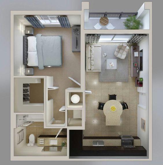 14 mẫu căn hộ một phòng ngủ không thể lý tưởng hơn cho người độc thân và vợ chồng trẻ - Ảnh 5.