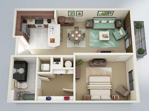 14 mẫu căn hộ một phòng ngủ không thể lý tưởng hơn cho người độc thân và vợ chồng trẻ - Ảnh 8.