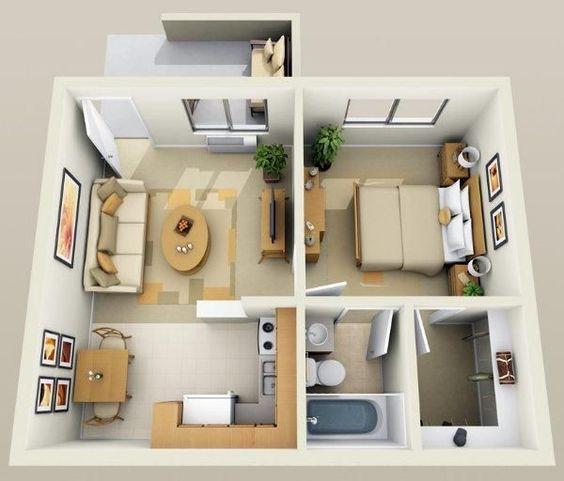14 mẫu căn hộ một phòng ngủ không thể lý tưởng hơn cho người độc thân và vợ chồng trẻ - Ảnh 12.