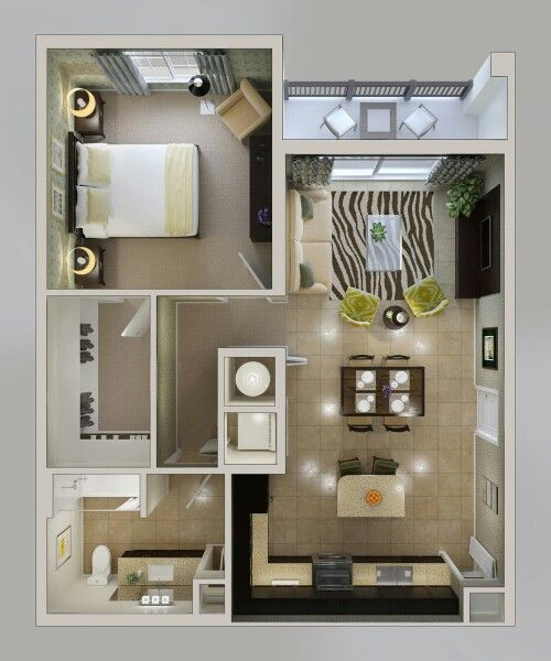 14 mẫu căn hộ một phòng ngủ không thể lý tưởng hơn cho người độc thân và vợ chồng trẻ - Ảnh 13.