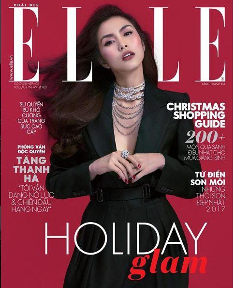 Tăng Thanh Hà trở lại vị thế đại mỹ nhân showbiz Việt khi tái xuất trên trang bìa Elle - Ảnh 1.