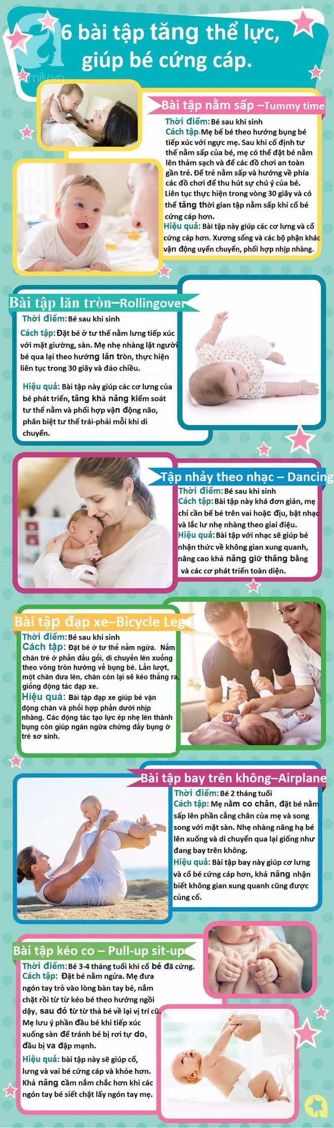 6 bài tập tăng cường thể lực, giúp trẻ sơ sinh sớm cứng cáp - Ảnh 2.