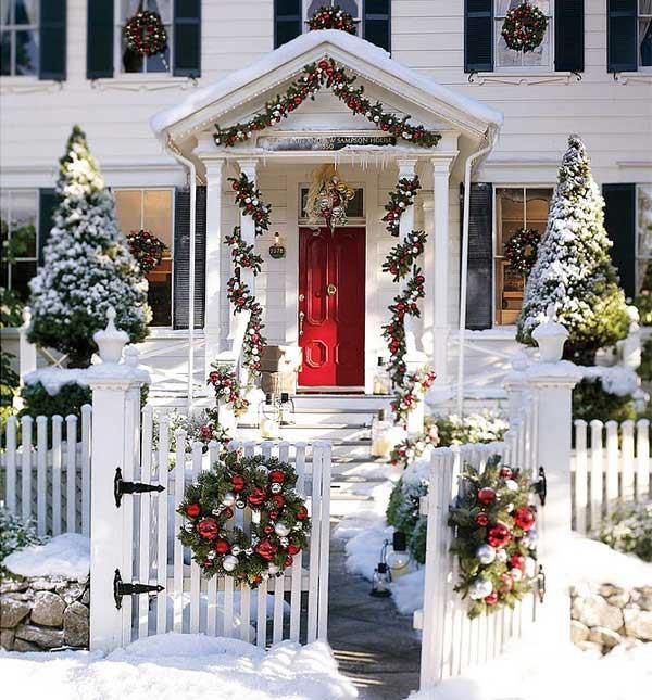 Những ý tưởng trang trí mặt tiền cho ngôi nhà đón Noel - Ảnh 10.