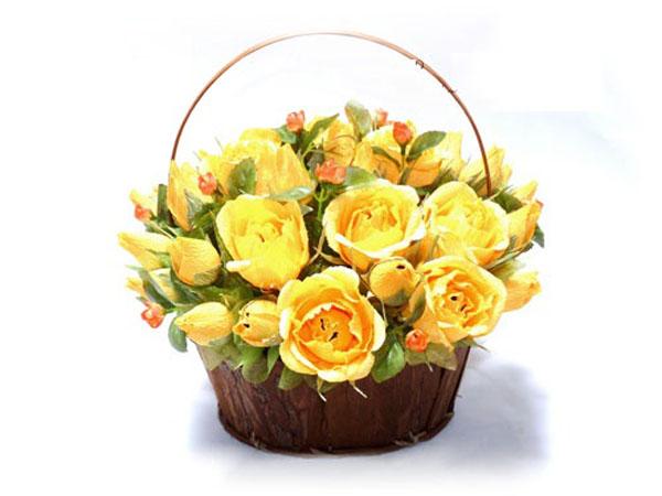 Tự làm giỏ kẹo hoa hồng vàng ngọt ngào đáng yêu - Ảnh 9.