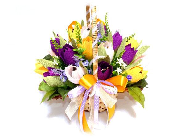 Giỏ hoa kẹo tulip ngọt ngào siêu đáng yêu trang trí nhà đón Tết - Ảnh 6.
