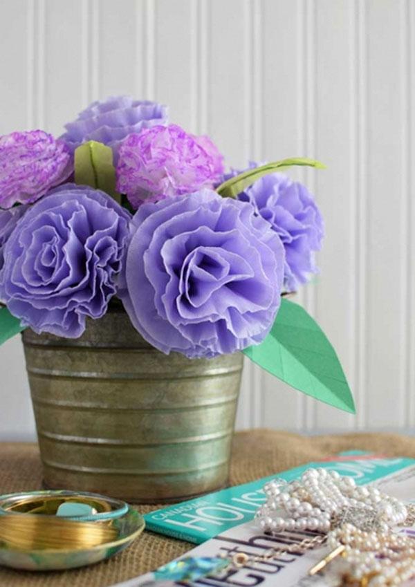 Trang trí nhà đẹp cùng 3 cách làm hoa giấy cực dễ - Ảnh 4.