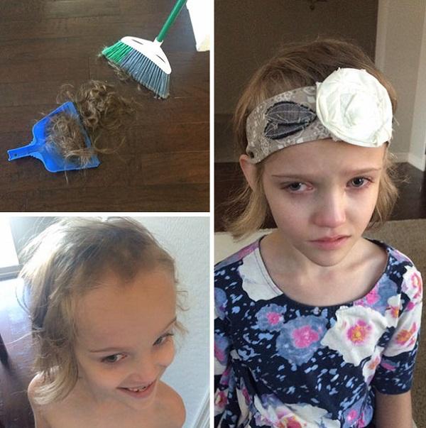 Cười vỡ bụng với những bé muốn đoạt giải cây kéo vàng bằng cách tự cắt tóc - Ảnh 2.