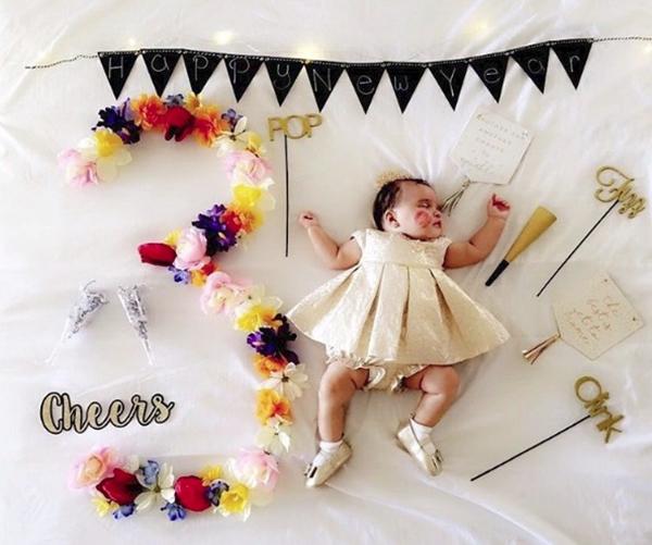 Mẹ kì công lên ý tưởng chụp ảnh đẹp lung linh cho con mỗi tháng - Ảnh 5.