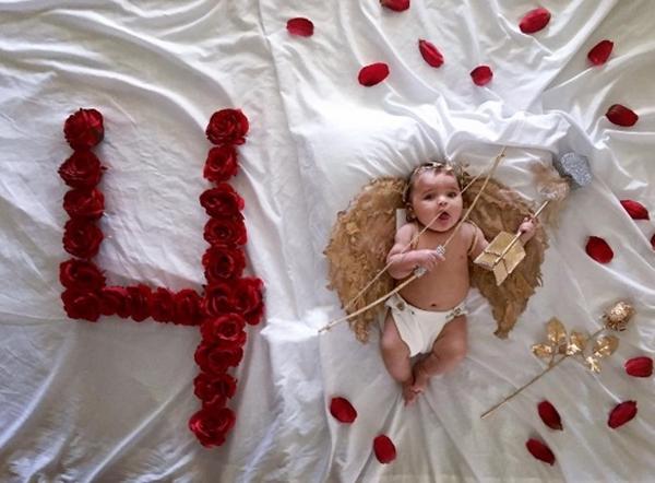 Mẹ kì công lên ý tưởng chụp ảnh đẹp lung linh cho con mỗi tháng - Ảnh 6.