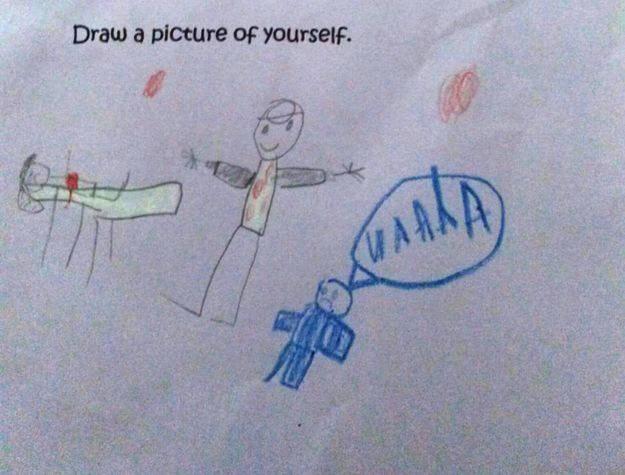 Đỏ mặt trước những bức tranh nghệ thuật do trẻ tạo ra - Ảnh 8.
