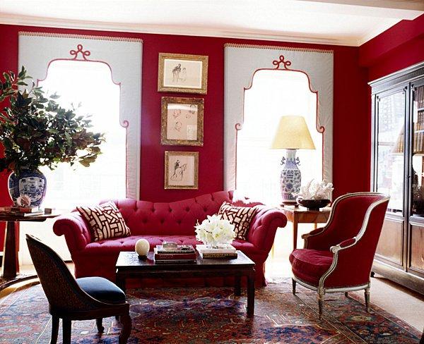10 cách phối màu đỏ và trắng giúp phòng khách nổi bần bật mà không mất nhiều công sức - Ảnh 3.