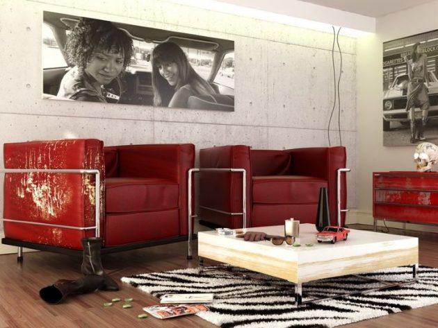 10 cách phối màu đỏ và trắng giúp phòng khách nổi bần bật mà không mất nhiều công sức - Ảnh 5.