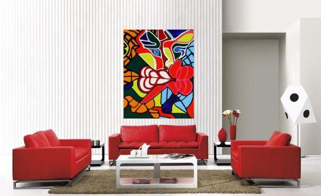 10 cách phối màu đỏ và trắng giúp phòng khách nổi bần bật mà không mất nhiều công sức - Ảnh 6.