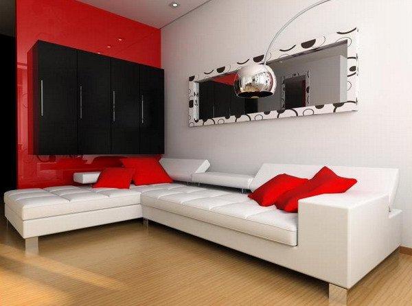 10 cách phối màu đỏ và trắng giúp phòng khách nổi bần bật mà không mất nhiều công sức - Ảnh 7.