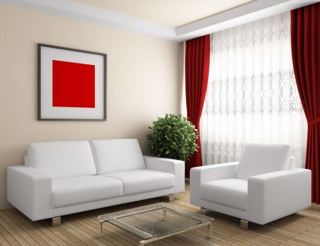 10 cách phối màu đỏ và trắng giúp phòng khách nổi bần bật mà không mất nhiều công sức - Ảnh 8.