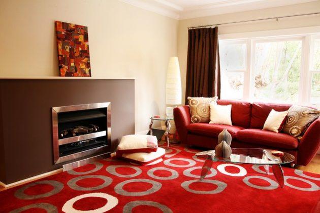 10 cách phối màu đỏ và trắng giúp phòng khách nổi bần bật mà không mất nhiều công sức - Ảnh 9.