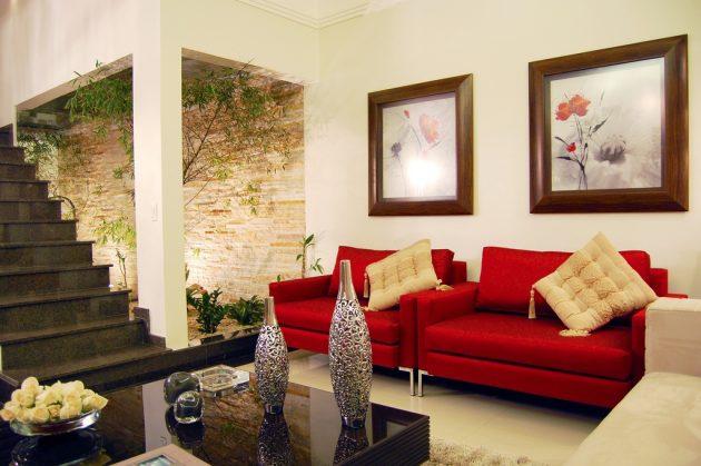 10 cách phối màu đỏ và trắng giúp phòng khách nổi bần bật mà không mất nhiều công sức - Ảnh 10.