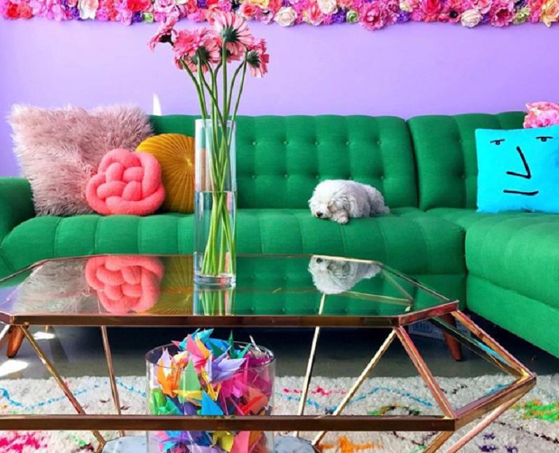 Lấy cầu vồng làm ý tưởng trang trí nhà, căn hộ nhỏ 35m² của cô gái trẻ đang gây sốt trên Instagram - Ảnh 7.