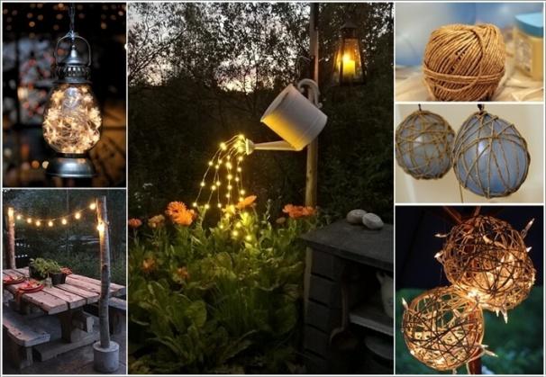 Tự làm điểm nhấn ánh sáng cho sân vườn thêm lãng mạn bằng 10 cách đơn giản dưới đây - Ảnh 1.