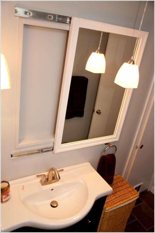 Phòng tắm nhỏ đến mấy cũng vẫn gọn gàng nhờ mẹo lưu trữ thông minh này - Ảnh 5.