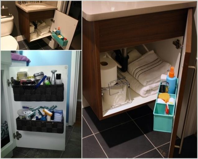 Phòng tắm nhỏ đến mấy cũng vẫn gọn gàng nhờ mẹo lưu trữ thông minh này - Ảnh 6.