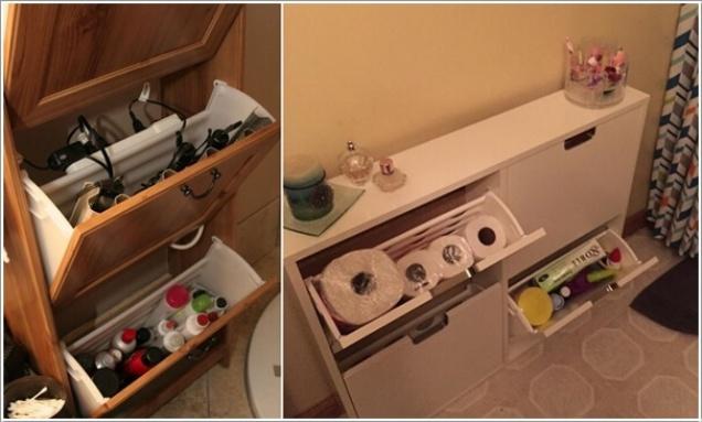 Phòng tắm nhỏ đến mấy cũng vẫn gọn gàng nhờ mẹo lưu trữ thông minh này - Ảnh 8.