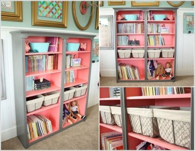 Những mẫu thiết kế kệ sách có cảm hứng giúp con thích đọc sách mỗi ngày - Ảnh 3.
