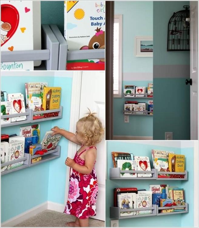 Những mẫu thiết kế kệ sách có cảm hứng giúp con thích đọc sách mỗi ngày - Ảnh 5.