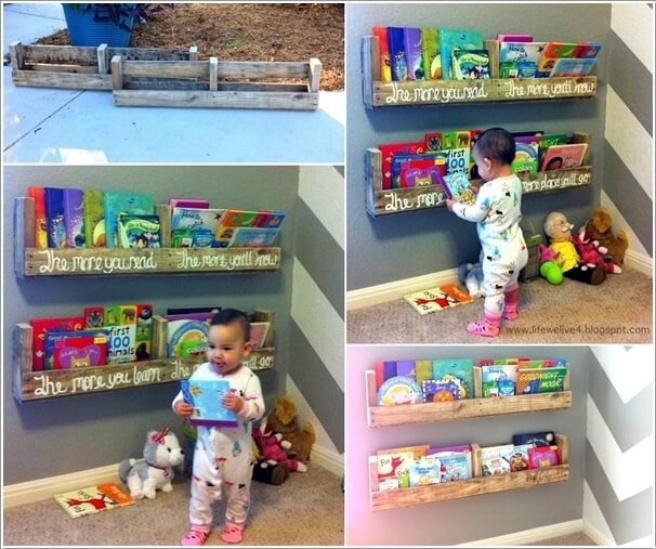 Những mẫu thiết kế kệ sách có cảm hứng giúp con thích đọc sách mỗi ngày - Ảnh 6.