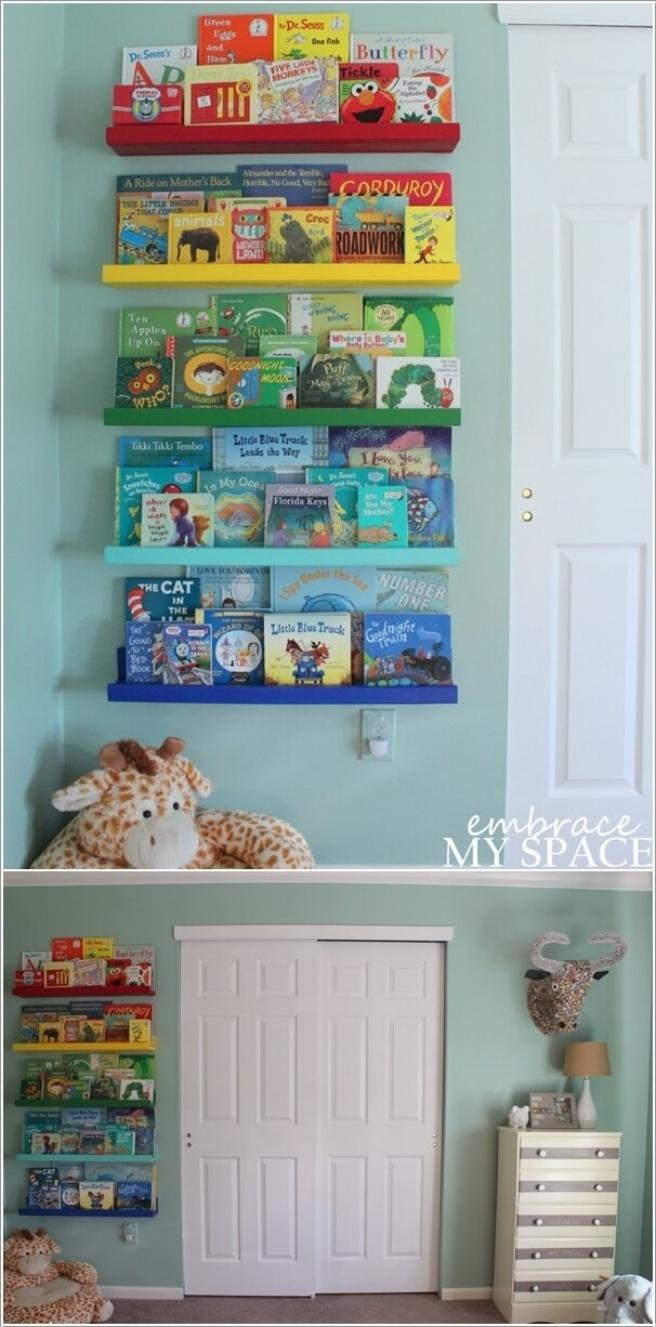 Những mẫu thiết kế kệ sách có cảm hứng giúp con thích đọc sách mỗi ngày - Ảnh 10.