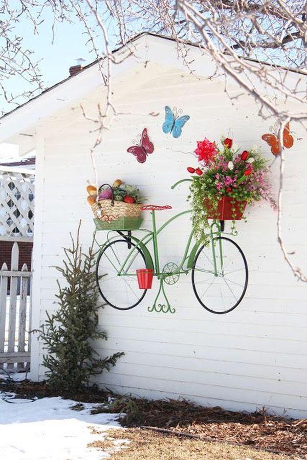 Những ý tưởng trang trí vườn tuyệt hay với xe đạp cũ bạn sẽ rất tiếc nếu biết quá muộn - Ảnh 4.