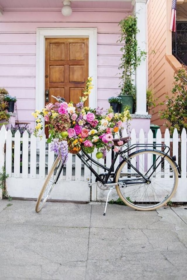 Những ý tưởng trang trí vườn tuyệt hay với xe đạp cũ bạn sẽ rất tiếc nếu biết quá muộn - Ảnh 6.