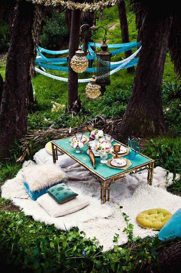 Góc sân vườn đón thu đẹp dịu dàng và lãng mạn khi được trang trí theo phong cách Bohemian - Ảnh 12.