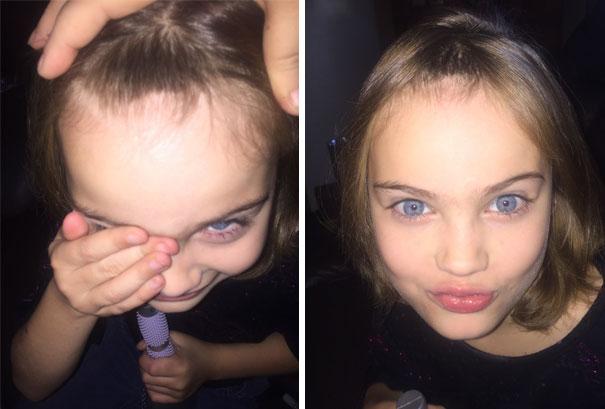 Nếu còn nghi ngờ khả năng tạo mẫu tóc của các bé thì cha mẹ hãy xem ngay bộ ảnh này - Ảnh 11.