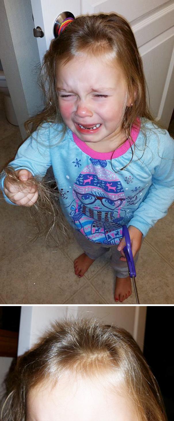 Nếu còn nghi ngờ khả năng tạo mẫu tóc của các bé thì cha mẹ hãy xem ngay bộ ảnh này - Ảnh 18.