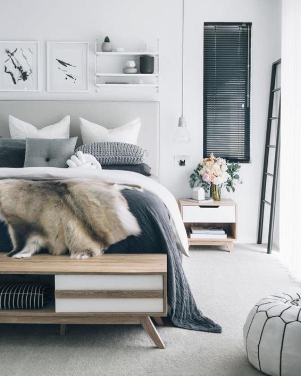 Những không gian phòng ngủ đẹp quyến rũ không thể không yêu khi được trang trí với màu xám  - Ảnh 9.