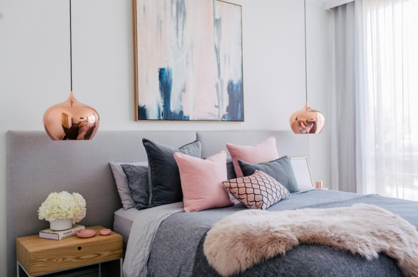 Những không gian phòng ngủ đẹp quyến rũ với gam màu xám không thể không yêu  - Ảnh 1.