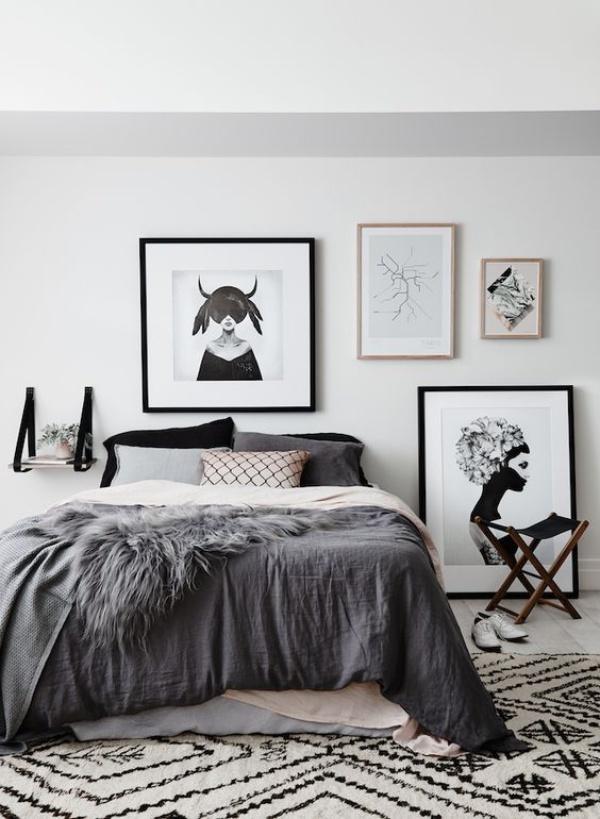 Những không gian phòng ngủ đẹp quyến rũ với gam màu xám không thể không yêu  - Ảnh 6.