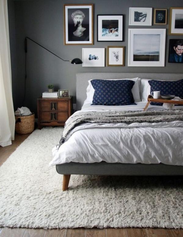 Những không gian phòng ngủ đẹp quyến rũ với gam màu xám không thể không yêu  - Ảnh 14.