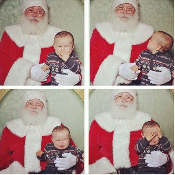 """Những khoảnh khắc """"cười ra nước mắt""""  vì không phải bé nào cũng thích Noel như cha mẹ vẫn nghĩ - Ảnh 6."""