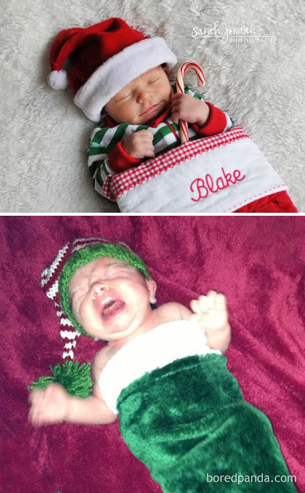 """Những khoảnh khắc """"cười ra nước mắt""""  vì không phải bé nào cũng thích Noel như cha mẹ vẫn nghĩ - Ảnh 12."""