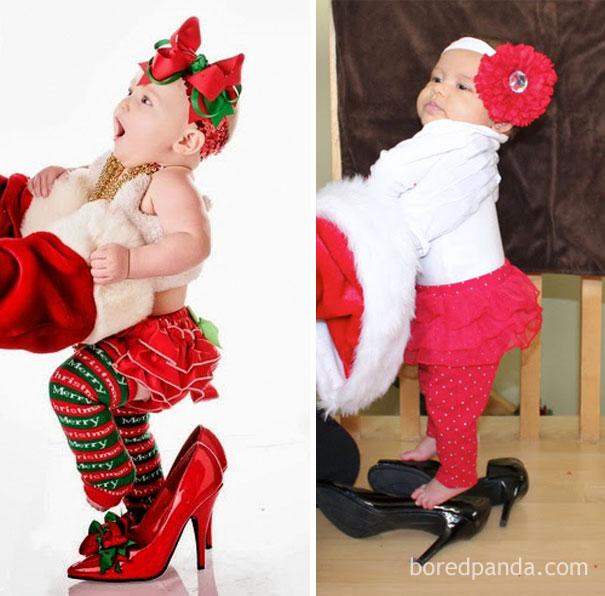 """Những khoảnh khắc """"cười ra nước mắt""""  vì không phải bé nào cũng thích Noel như cha mẹ vẫn nghĩ - Ảnh 13."""