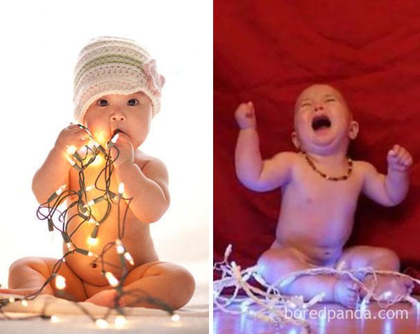 """Những khoảnh khắc """"cười ra nước mắt""""  vì không phải bé nào cũng thích Noel như cha mẹ vẫn nghĩ - Ảnh 14."""