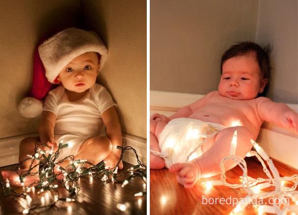 """Những khoảnh khắc """"cười ra nước mắt""""  vì không phải bé nào cũng thích Noel như cha mẹ vẫn nghĩ - Ảnh 19."""
