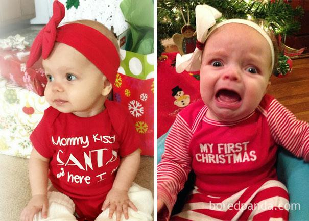 """Những khoảnh khắc """"cười ra nước mắt""""  vì không phải bé nào cũng thích Noel như cha mẹ vẫn nghĩ - Ảnh 20."""