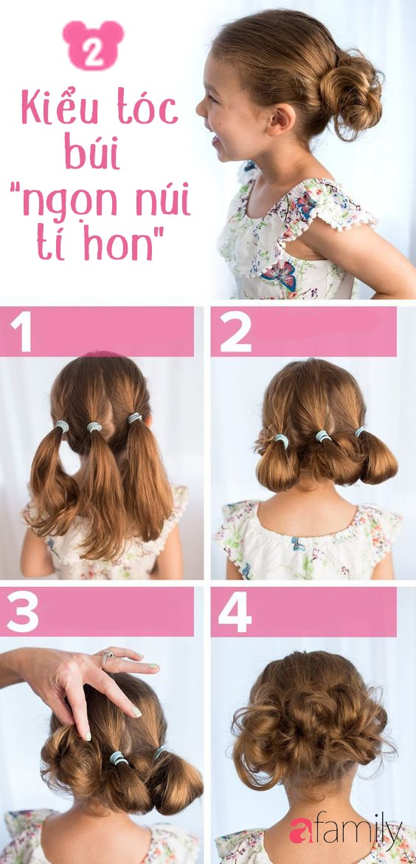 """Mách mẹ 12 kiểu tóc cho bé gái đảm bảo mỗi sáng """"con xinh xúng xính, mẹ kịp giờ làm"""" - Ảnh 2."""