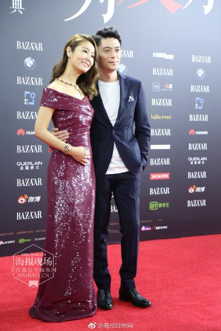 Vợ chồng Lâm Tâm Như - Hoắc Kiến Hoa ôm nhau tình tứ, Dương Mịch đọ sắc cùng Triệu Lệ Dĩnh trên thảm đỏ - Ảnh 1.