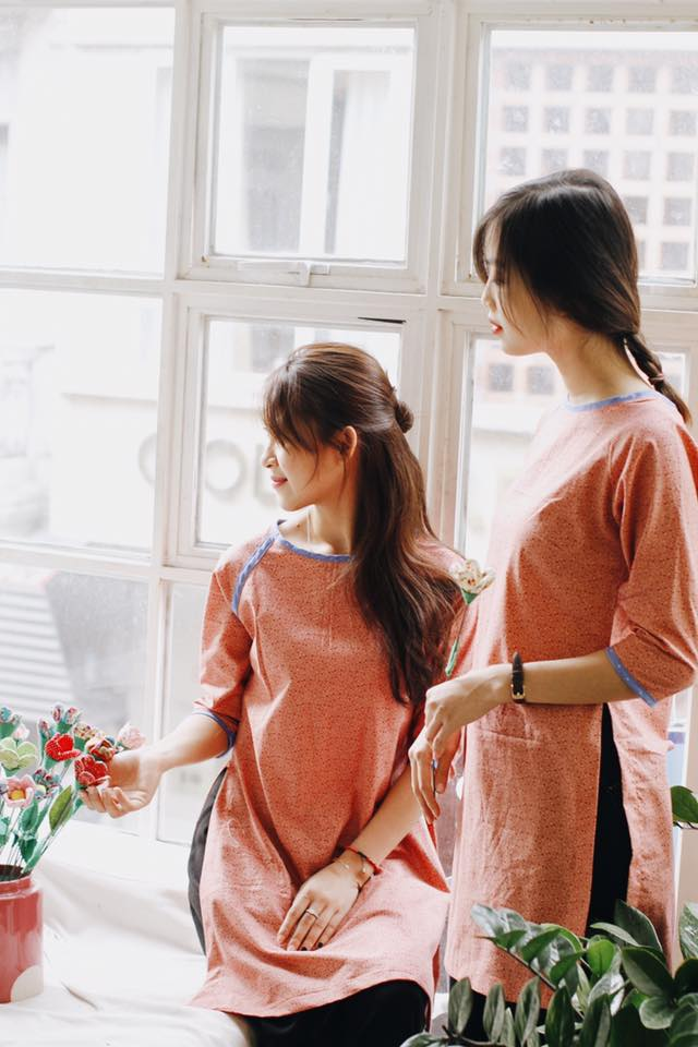 5 tiệm áo dài cách tân cực chất, giá dưới 1 triệu để đẹp cả Tết ở Hà Nội - Ảnh 4.
